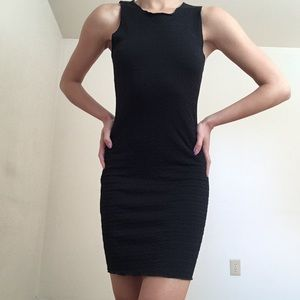 Topshop textured bodycon little black dress